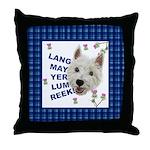 Lang May Yer Lum Reek! Throw Pillow