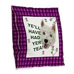 Westie Wisdom Burlap Throw Pillow