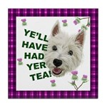 Westie Wisdom Tile Coaster