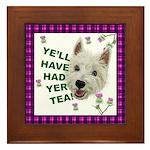 Westie Wisdom Framed Tile