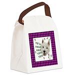 Westie Wisdom Canvas Lunch Bag