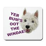 Wee Westie's Wisdom Mousepad