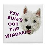 Wee Westie's Wisdom Tile Coaster