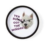 Wee Westie's Wisdom Wall Clock