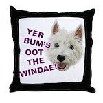 Wee Westie's Wisdom Throw Pillow