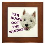 Wee Westie's Wisdom Framed Tile