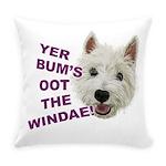 Wee Westie's Wisdom Everyday Pillow