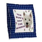 Wee Westie Words of Wisdom Burlap Throw Pillow