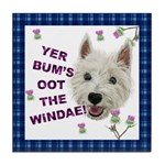 Wee Westie Words of Wisdom Tile Coaster