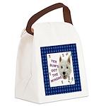 Wee Westie Words of Wisdom Canvas Lunch Bag