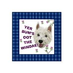 Wee Westie Words of Wisdom Sticker