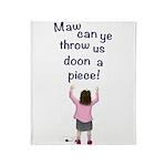 Scottish Jeely Piece Kids Throw Blanket