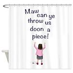 Scottish Jeely Piece Kids Shower Curtain