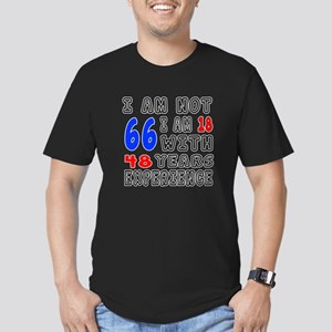 I am not 66 Birthday D Men's Fitted T-Shirt (dark)