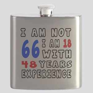 I am not 66 Birthday Designs Flask