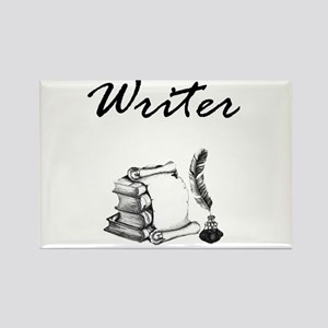 Writer Books and Quill Magnets