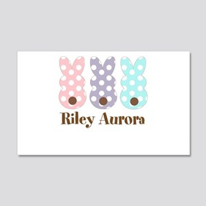 Custom name Polka dot bunnies Wall Decal