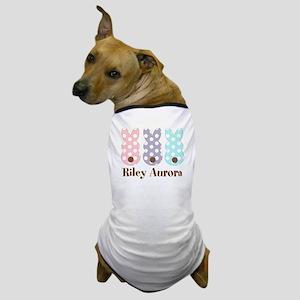 Custom name Polka dot bunnies Dog T-Shirt