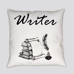 Writer Books and Quill Everyday Pillow