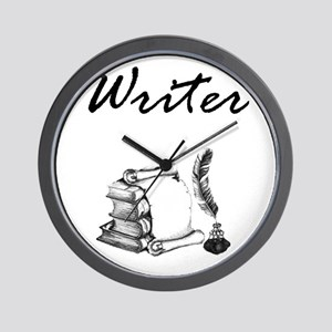Writer Books and Quill Wall Clock