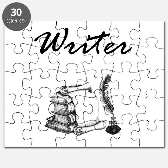 Writer Books and Quill Puzzle