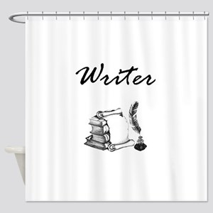 Writer Books and Quill Shower Curtain