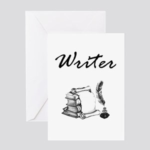 Writer Books and Quill Greeting Cards