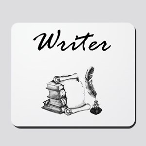 Writer Books and Quill Mousepad