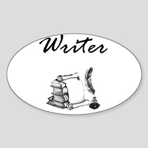 Writer Books and Quill Sticker