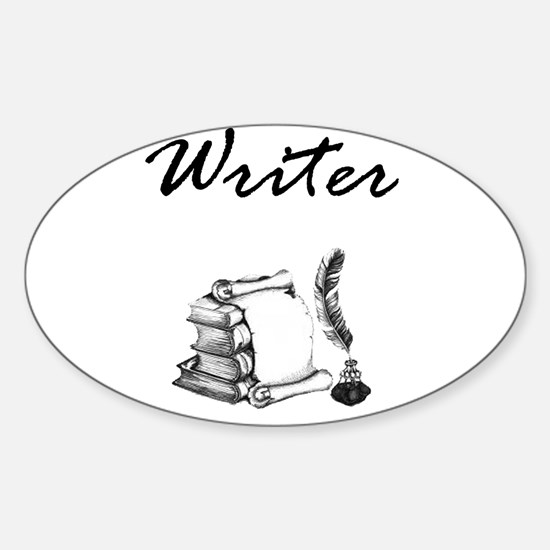 Writer Books and Quill Bumper Stickers