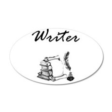 Writer Books and Quill Wall Decal