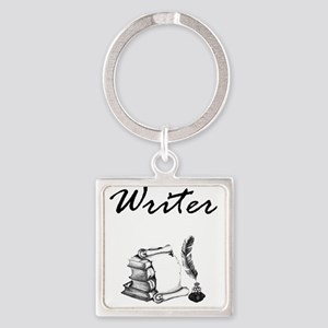 Writer Books and Quill Keychains