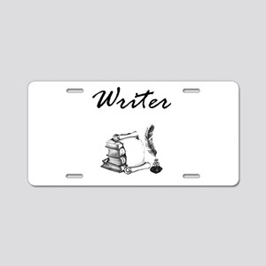 Writer Books and Quill Aluminum License Plate