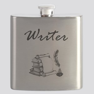 Writer Books and Quill Flask