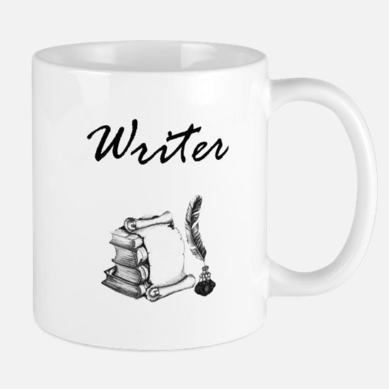 Writer Books and Quill Mugs