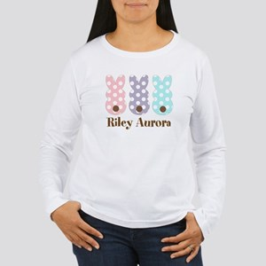 Custom name Polka dot bunnies Long Sleeve T-Shirt