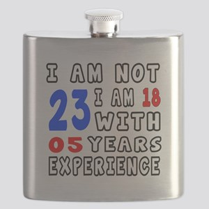 I am not 23 Birthday Designs Flask