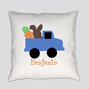 Easter time truck personalized Everyday Pillow