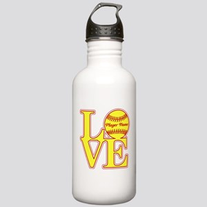 Personalized Love Softball Water Bottle