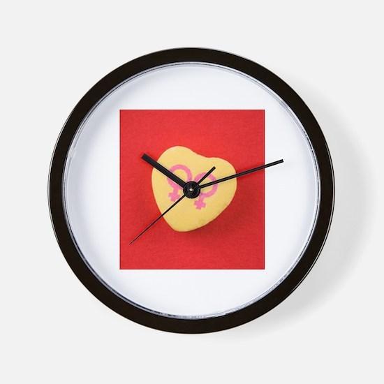 Lesbian women - Valentine Can Wall Clock