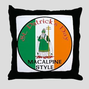 Macalpine, St. Patrick's Day Throw Pillow