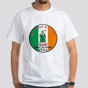 Macalpine, St. Patrick's Day White T-Shirt