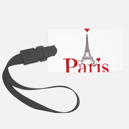I love Paris Large Luggage Tag