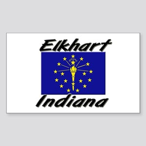 Elkhart Indiana Rectangle Sticker