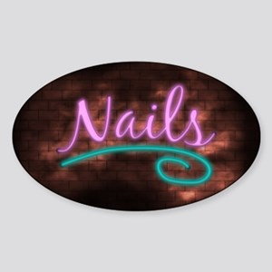 Neon Nails Sign Sticker