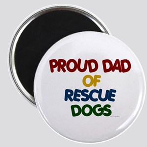 Proud Dad Of Rescue Dogs 1 Magnet