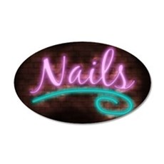 Neon Nails Sign Wall Decal