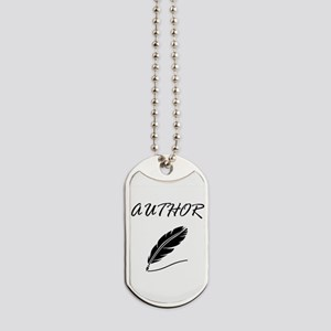 Author Quill Dog Tags