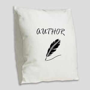 Author Quill Burlap Throw Pillow