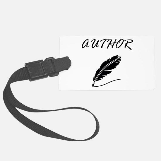 Author Quill Luggage Tag